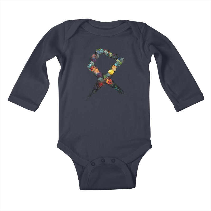 BDcraft Rune of blocks Kids Baby Longsleeve Bodysuit by BDcraft Shop