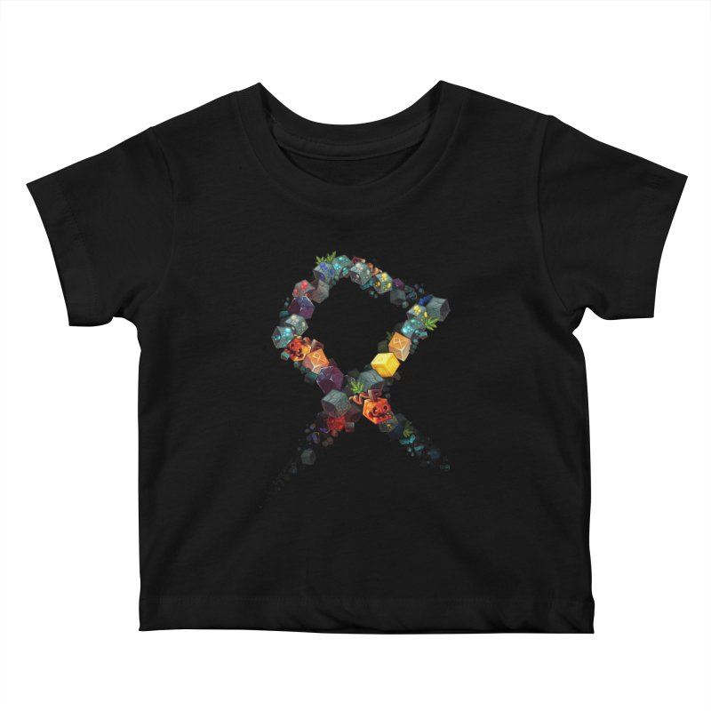 BDcraft Rune of blocks Kids Baby T-Shirt by BDcraft Shop