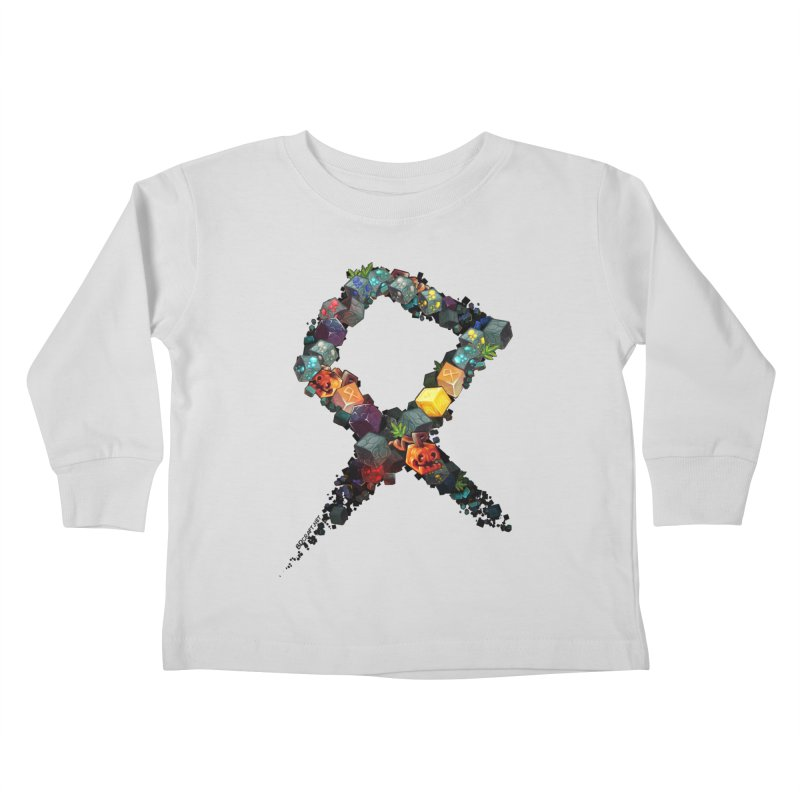 BDcraft Rune of blocks Kids Toddler Longsleeve T-Shirt by BDcraft Shop