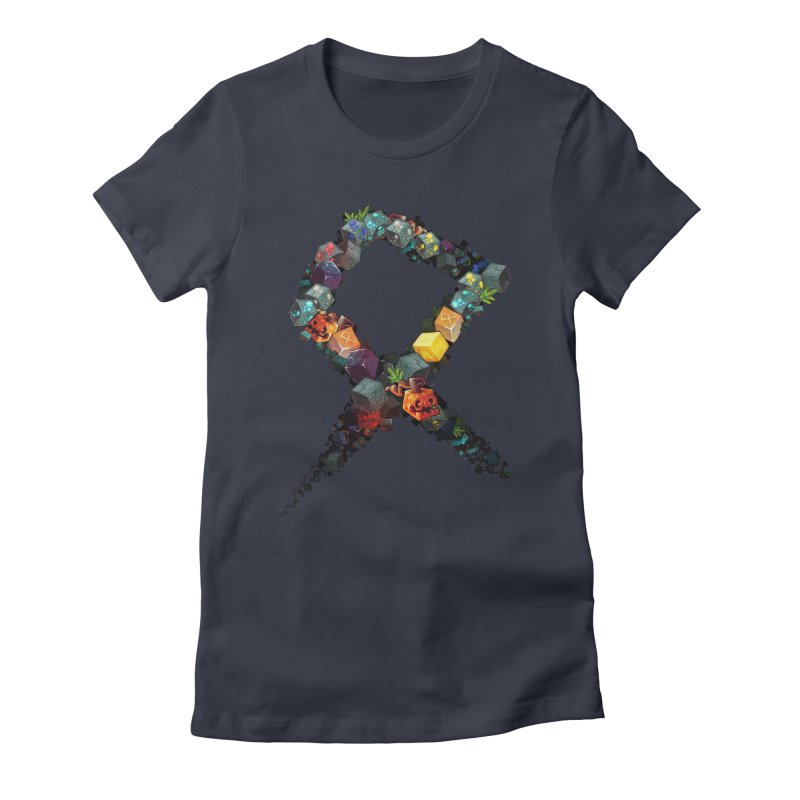 BDcraft Rune of blocks Women's Fitted T-Shirt by BDcraft Shop