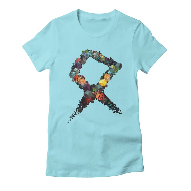 BDcraft Rune of blocks Women's Fitted T-Shirt by BDcraft Shop