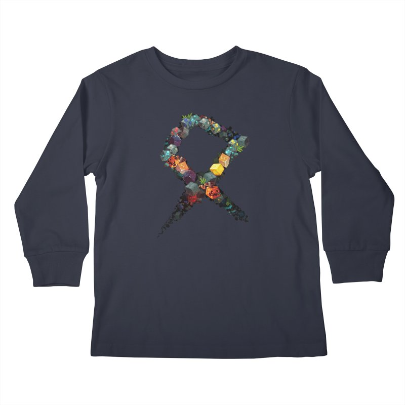 BDcraft Rune of blocks Kids Longsleeve T-Shirt by BDcraft Shop