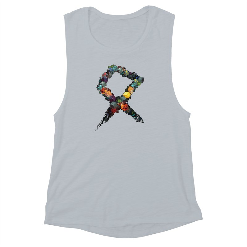 BDcraft Rune of blocks Women's Muscle Tank by BDcraft Shop