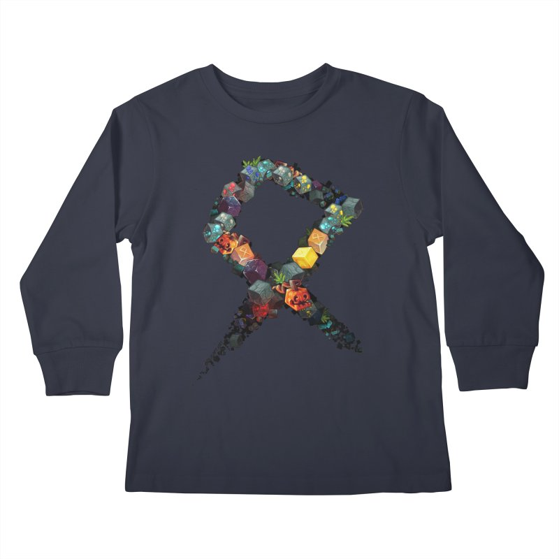 BDcraft Rune of blocks Kids Longsleeve T-Shirt by BDcraft Shop