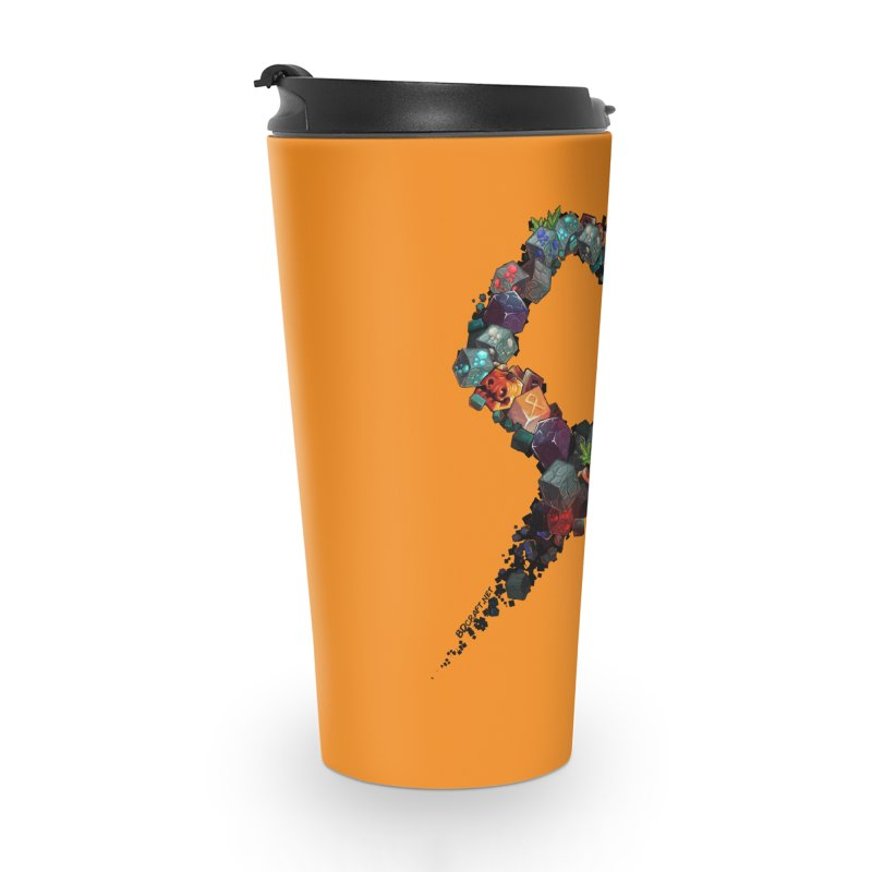 BDcraft Rune of blocks Accessories Travel Mug by BDcraft Shop