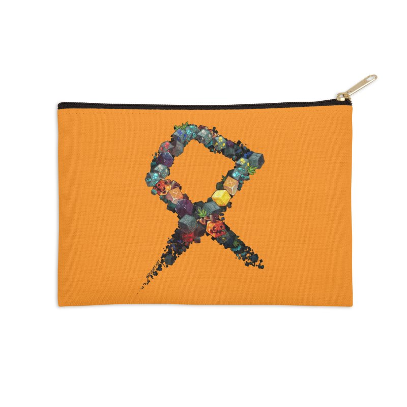 BDcraft Rune of blocks Accessories Zip Pouch by BDcraft Shop