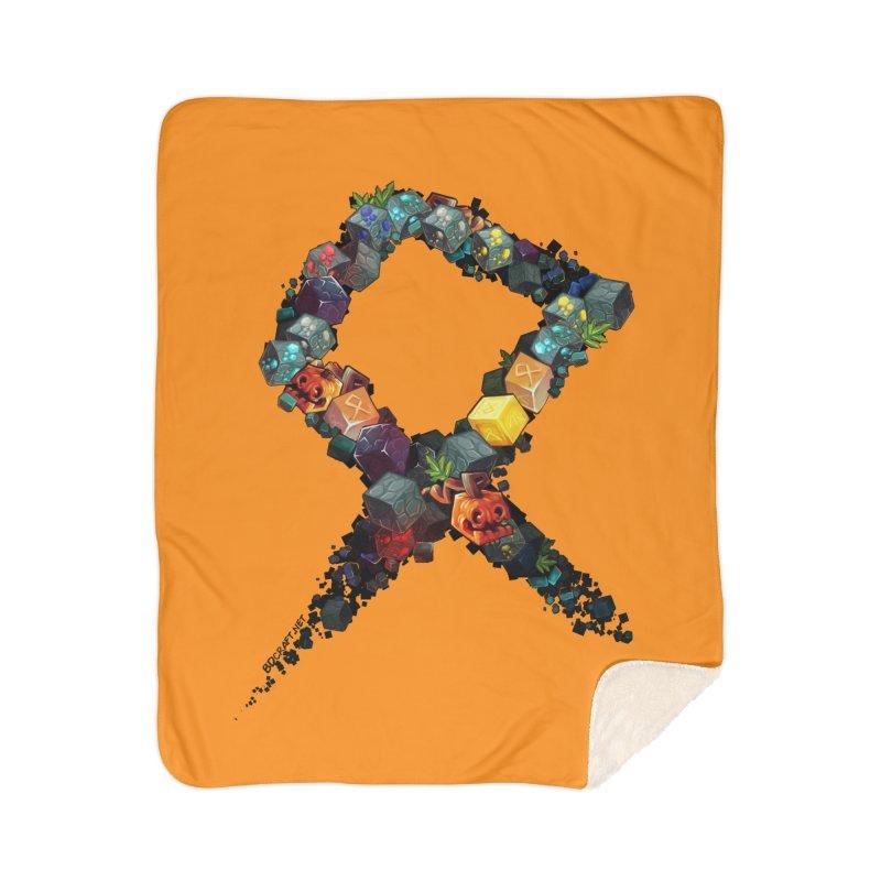 BDcraft Rune of blocks Home Sherpa Blanket Blanket by BDcraft Shop