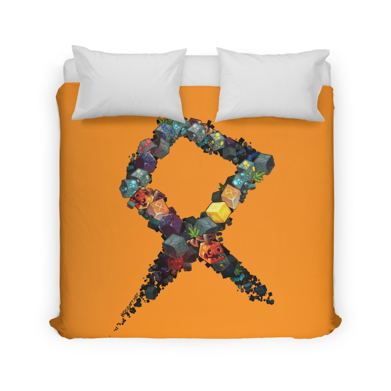 BDcraft Rune of blocks Home Duvet by BDcraft Shop