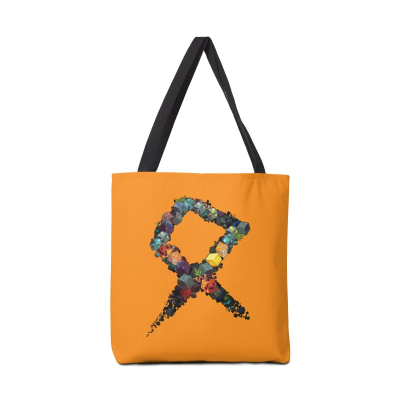 BDcraft Rune of blocks Accessories Tote Bag Bag by BDcraft Shop