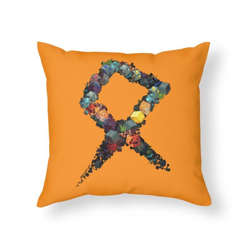 BDcraft Rune of blocks Home Throw Pillow by BDcraft Shop