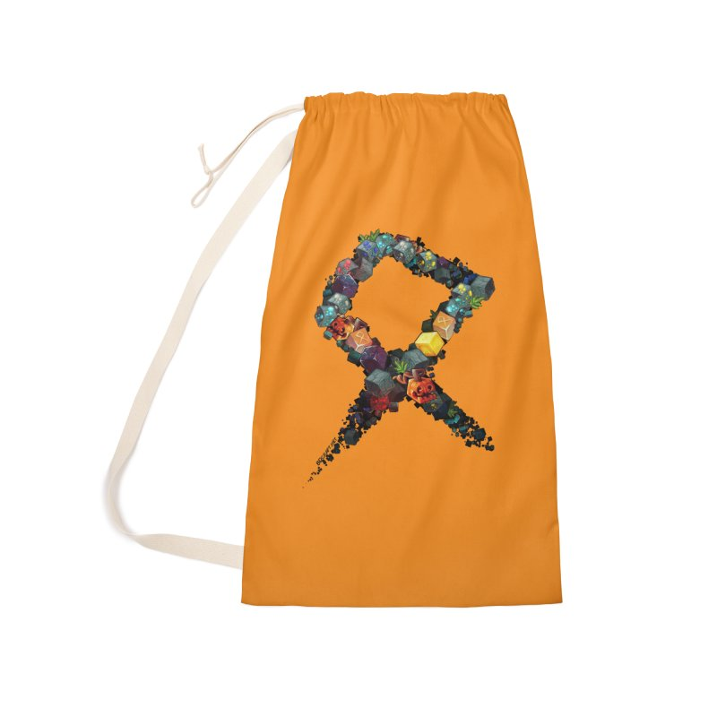 BDcraft Rune of blocks Accessories Laundry Bag Bag by BDcraft Shop
