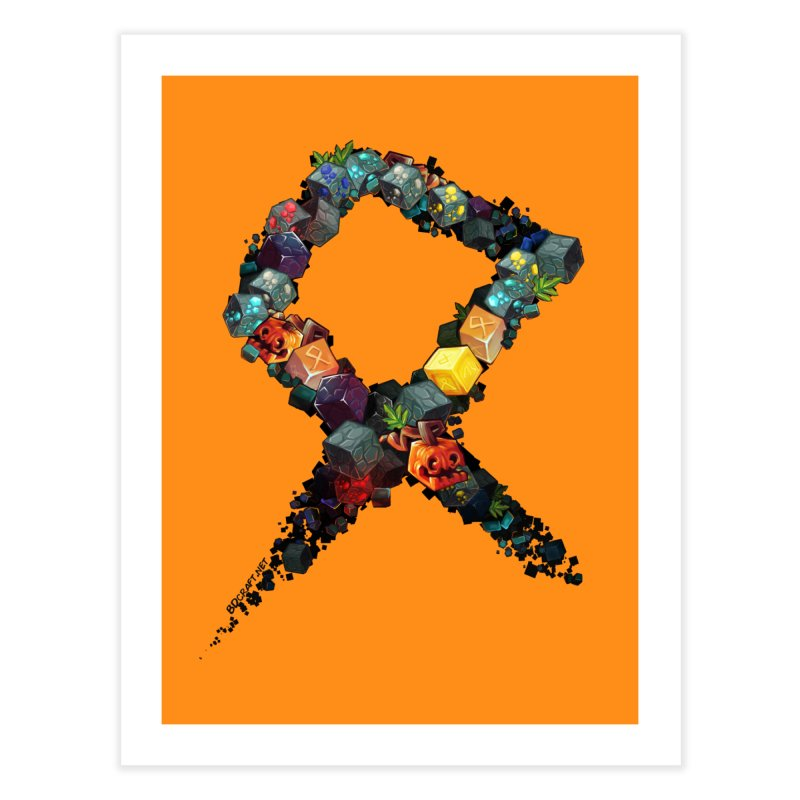 BDcraft Rune of blocks Home Fine Art Print by BDcraft Shop