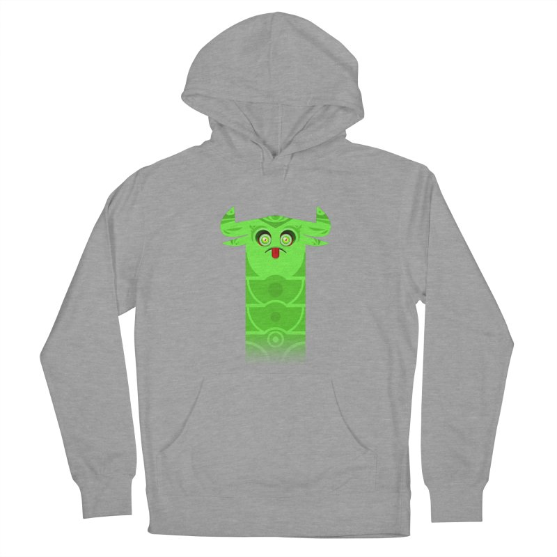 Mr. Yuchyux (green frowning) Women's French Terry Pullover Hoody by BEeow's Artist Shop