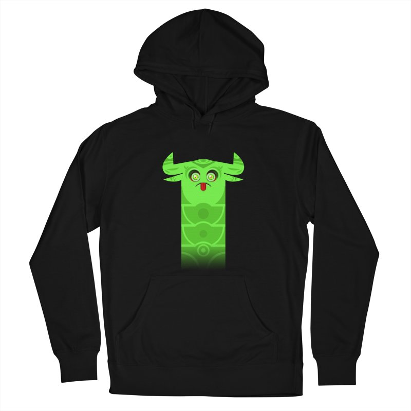 Mr. Yuchyux (green frowning) Men's French Terry Pullover Hoody by BEeow's Artist Shop