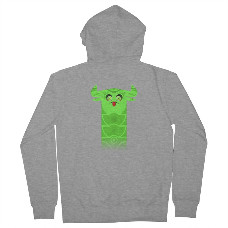 Mr. Yuchyux (green frowning) Women's French Terry Zip-Up Hoody by BEeow's Artist Shop