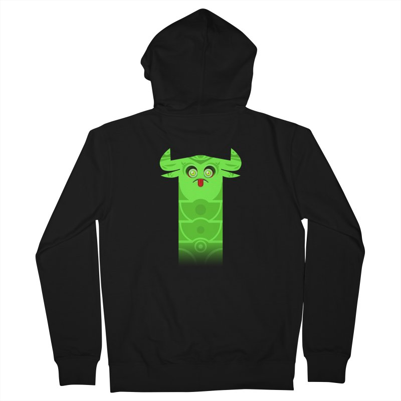 Mr. Yuchyux (green frowning) Men's French Terry Zip-Up Hoody by BEeow's Artist Shop