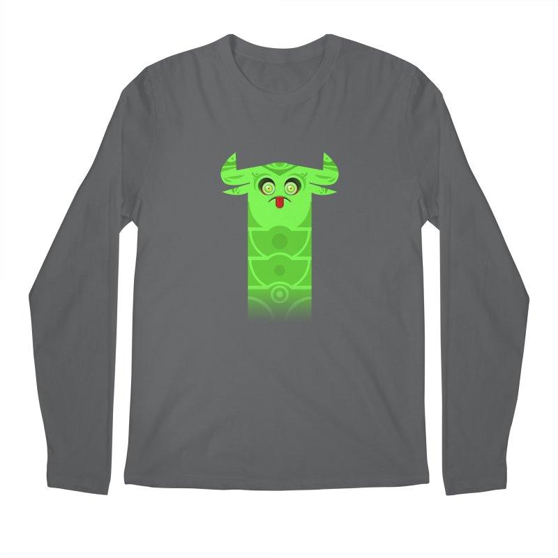 Mr. Yuchyux (green frowning) Men's Regular Longsleeve T-Shirt by BEeow's Artist Shop