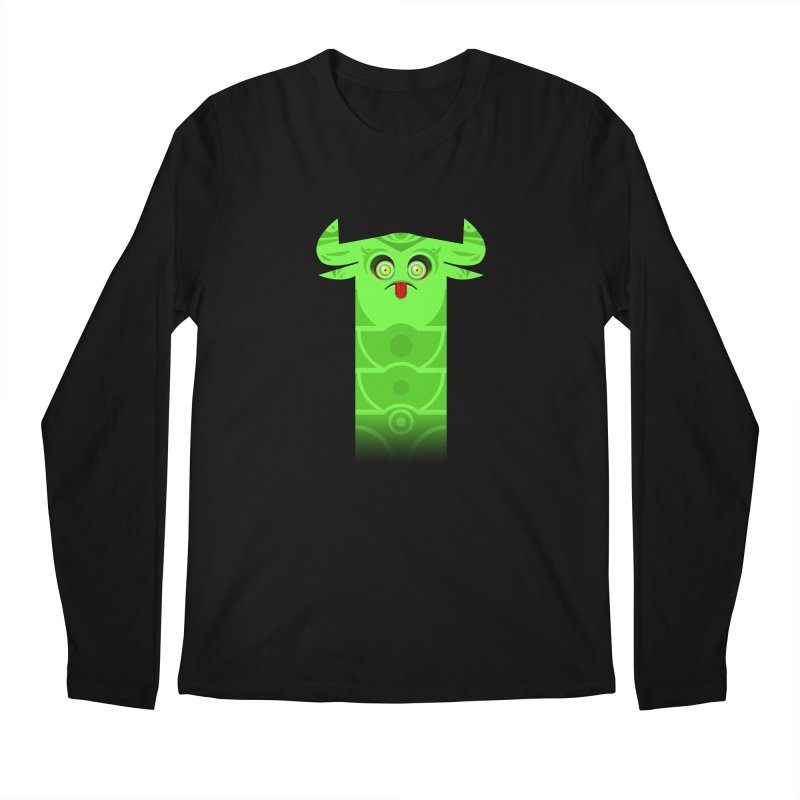 Mr. Yuchyux (green frowning) Men's Longsleeve T-Shirt by BEeow's Artist Shop