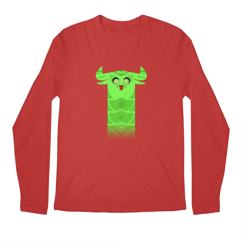 Mr. Yuchyux (green frowning) Men's Regular Longsleeve T-Shirt by BEeow's Artist Shop