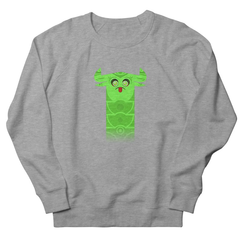 Mr. Yuchyux (green frowning) Women's French Terry Sweatshirt by BEeow's Artist Shop