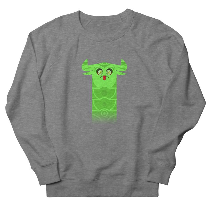 Mr. Yuchyux (green frowning) Men's French Terry Sweatshirt by BEeow's Artist Shop