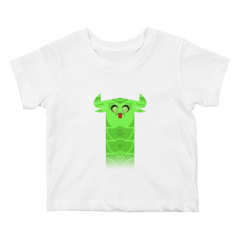 Mr. Yuchyux (green frowning) Kids Baby T-Shirt by BEeow's Artist Shop