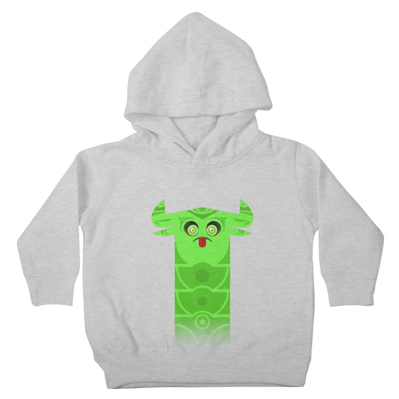 Mr. Yuchyux (green frowning) Kids Toddler Pullover Hoody by BEeow's Artist Shop