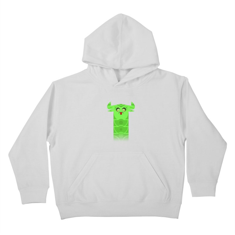 Mr. Yuchyux (green frowning) Kids Pullover Hoody by BEeow's Artist Shop