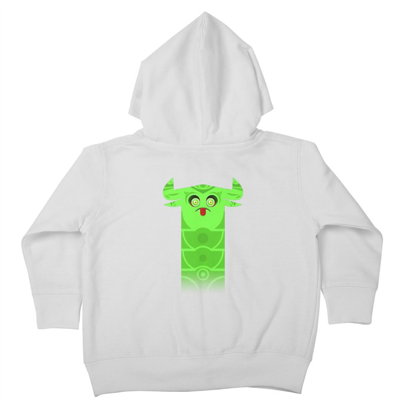 Mr. Yuchyux (green frowning) Kids Toddler Zip-Up Hoody by BEeow's Artist Shop