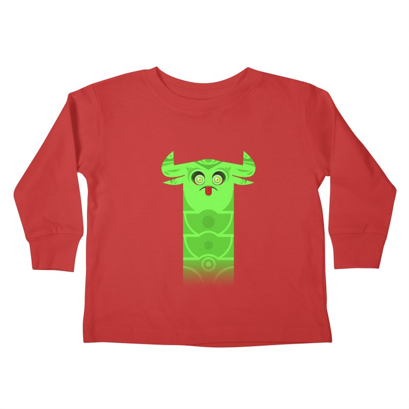 Mr. Yuchyux (green frowning) Kids Toddler Longsleeve T-Shirt by BEeow's Artist Shop