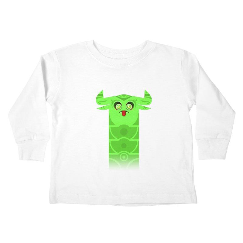 Mr. Yuchyux (green frowning) Kids Toddler Longsleeve T-Shirt by BEeow's Artist Shop