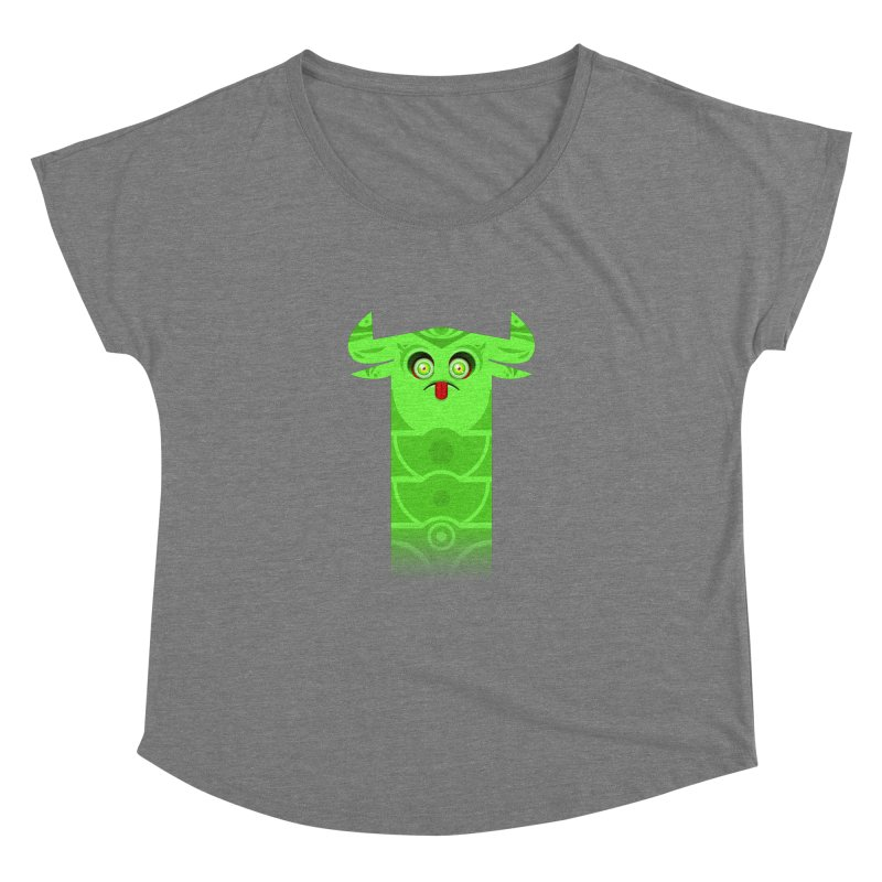 Mr. Yuchyux (green frowning) Women's Scoop Neck by BEeow's Artist Shop