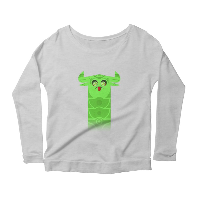 Mr. Yuchyux (green frowning) Women's Longsleeve Scoopneck  by BEeow's Artist Shop