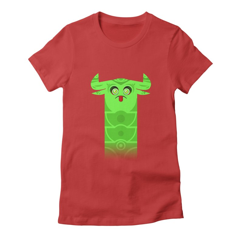 Mr. Yuchyux (green frowning) Women's Fitted T-Shirt by BEeow's Artist Shop