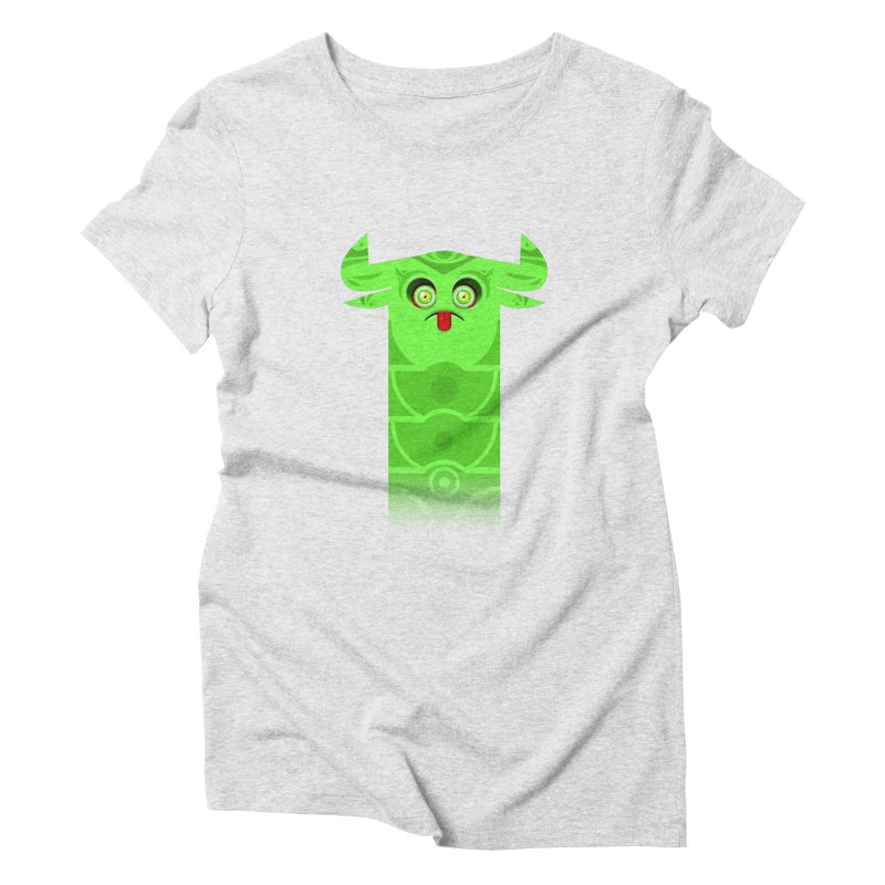 Mr. Yuchyux (green frowning) Women's Triblend T-Shirt by BEeow's Artist Shop