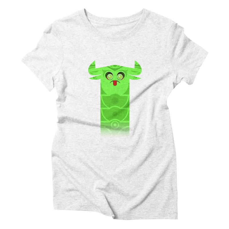Mr. Yuchyux (green frowning) Women's Triblend T-shirt by BEeow's Artist Shop