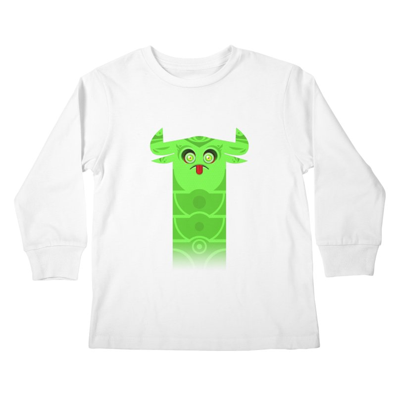 Mr. Yuchyux (green frowning) Kids Longsleeve T-Shirt by BEeow's Artist Shop