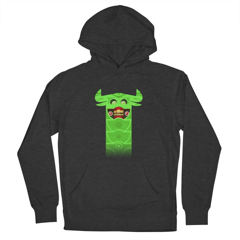 Mr. Yuchyux (green smiling) Women's French Terry Pullover Hoody by BEeow's Artist Shop