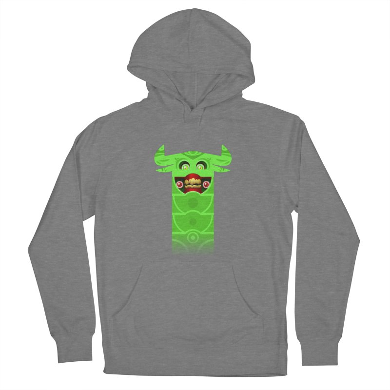 Mr. Yuchyux (green smiling) Men's French Terry Pullover Hoody by BEeow's Artist Shop