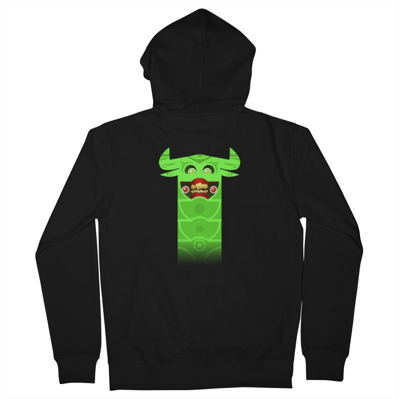 Mr. Yuchyux (green smiling) Women's French Terry Zip-Up Hoody by BEeow's Artist Shop