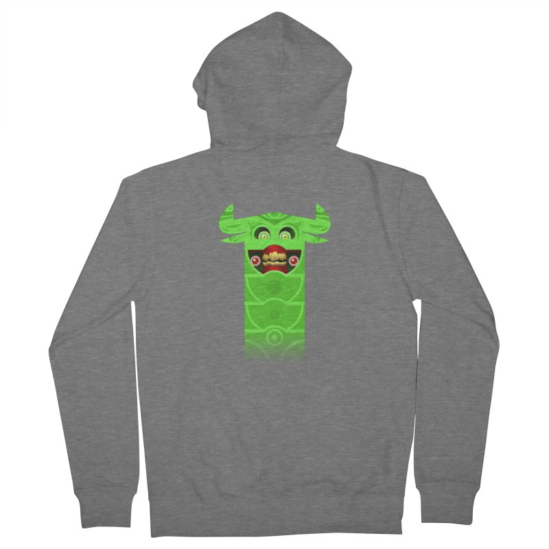 Mr. Yuchyux (green smiling) Men's French Terry Zip-Up Hoody by BEeow's Artist Shop