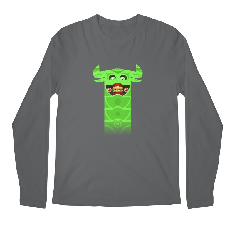 Mr. Yuchyux (green smiling) Men's Regular Longsleeve T-Shirt by BEeow's Artist Shop