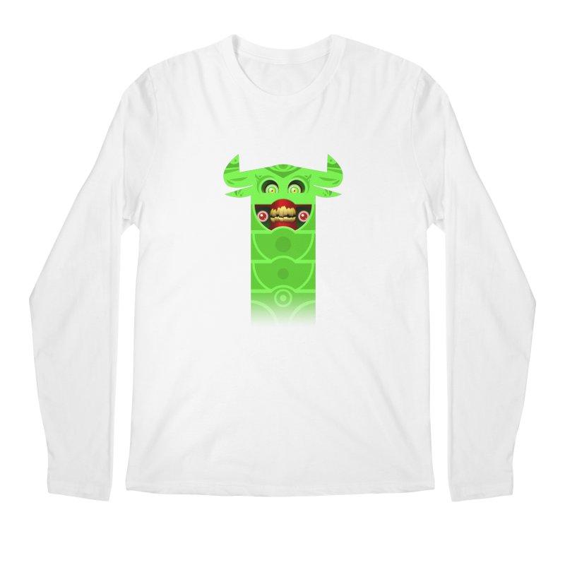 Mr. Yuchyux (green smiling) Men's Regular Longsleeve T-Shirt by BEeow's Artist Shop