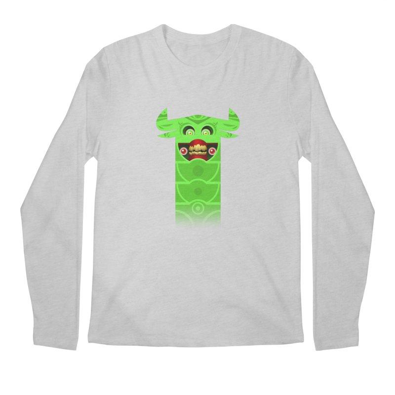 Mr. Yuchyux (green smiling) Men's Longsleeve T-Shirt by BEeow's Artist Shop