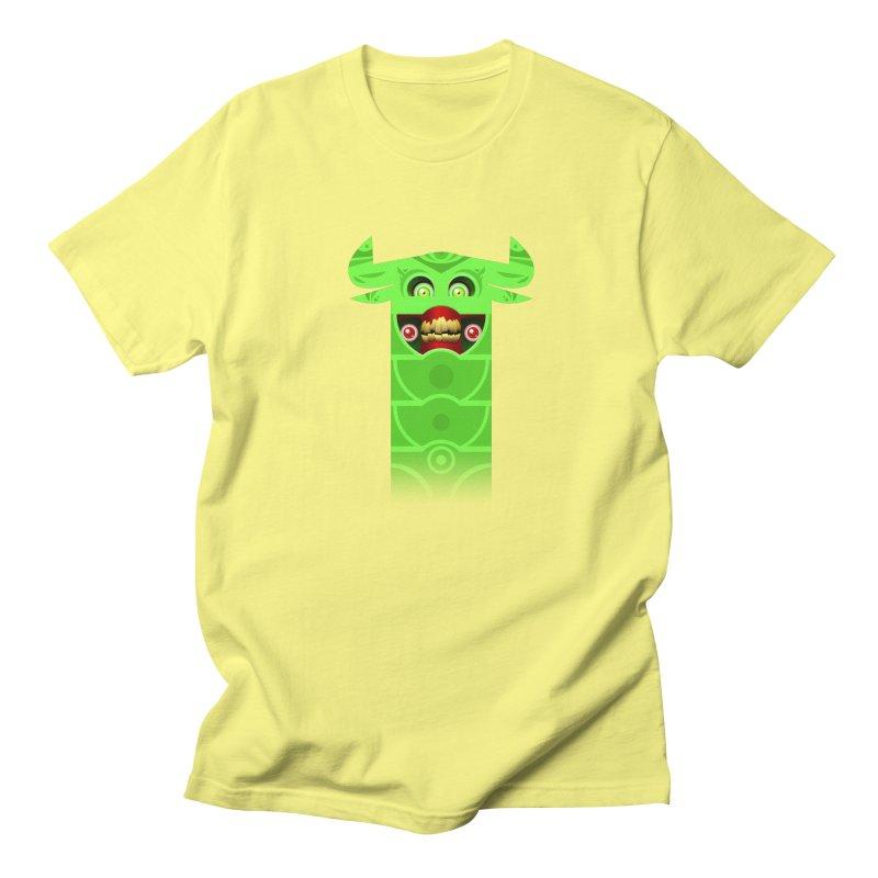 Mr. Yuchyux (green smiling) Men's Regular T-Shirt by BEeow's Artist Shop