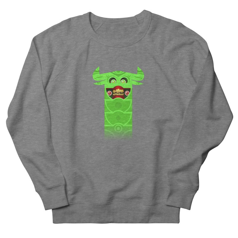 Mr. Yuchyux (green smiling) Women's French Terry Sweatshirt by BEeow's Artist Shop