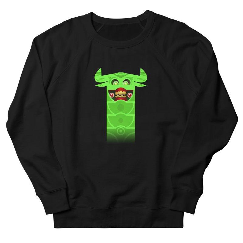Mr. Yuchyux (green smiling) Men's French Terry Sweatshirt by BEeow's Artist Shop