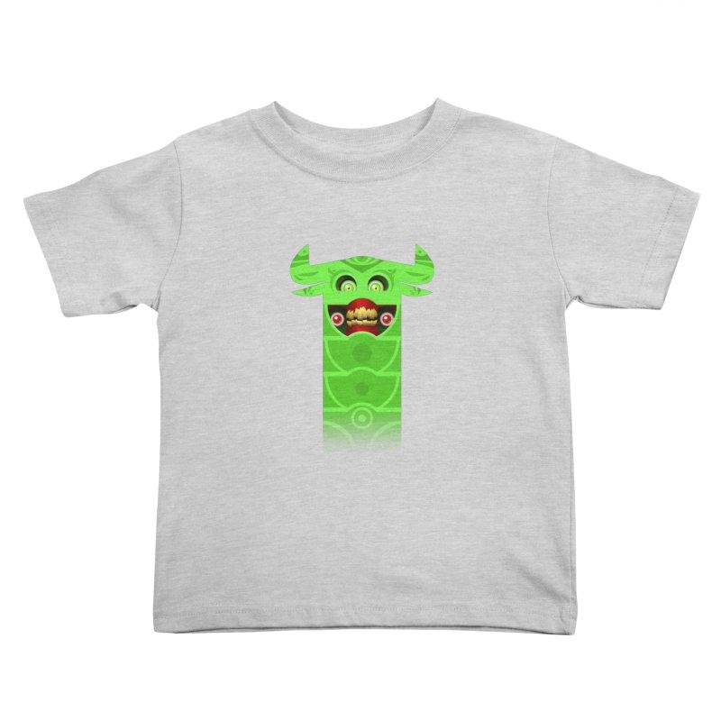 Mr. Yuchyux (green smiling) Kids Toddler T-Shirt by BEeow's Artist Shop