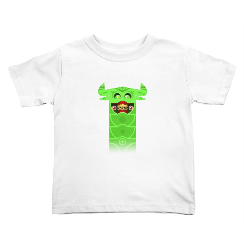 Mr. Yuchyux (green smiling) Kids Toddler T-Shirt by BEeow's Artist Shop