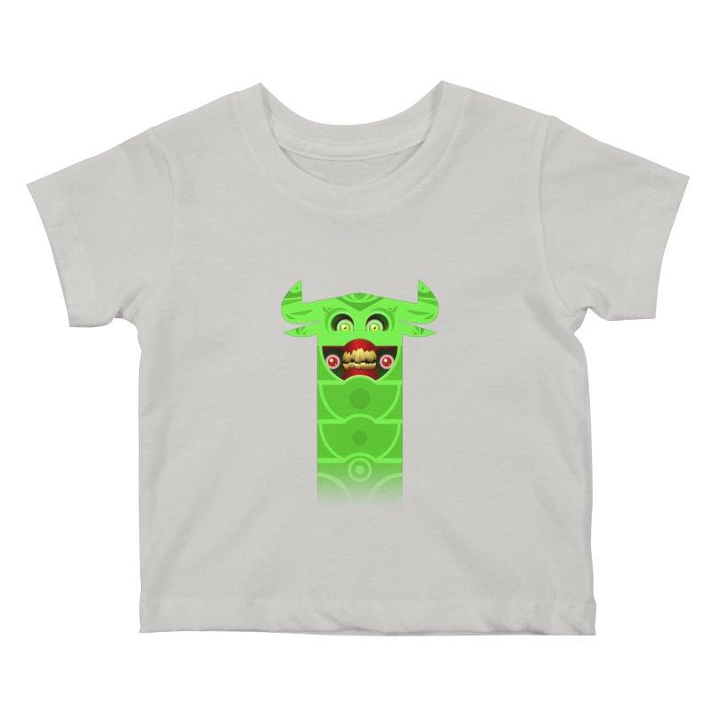 Mr. Yuchyux (green smiling) Kids Baby T-Shirt by BEeow's Artist Shop